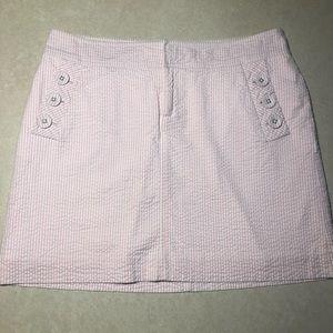 LILLY PULITZER Seer Sucker Mini Skirt Size 8